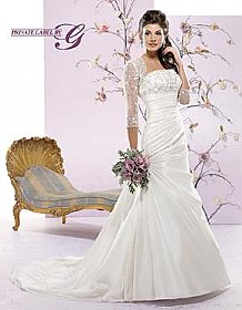 In Stock Private Label by G 1369 Wedding Dress Sz 8