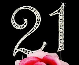 Elegance by Carbonneau Vintage Number 21 Cake Jewelry