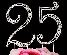 Elegance by Carbonneau Vintage Number 25 Cake Jewelry