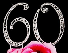 Elegance by Carbonneau Vintage Number 60 Cake Jewelry