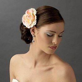 Elegance by Carbonneau Flower Hair Clip-415-Pink