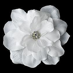 Elegance by Carbonneau Flower Hair Clip-407-White