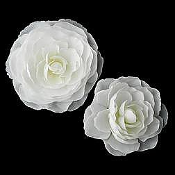 Elegance by Carbonneau Flower Hair Clip-404-Diamond-White