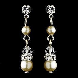 Elegance by Carbonneau Earrings E 8370 Gold/Ivory
