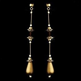 Elegance by Carbonneau Earrings E 8357 Gold/Brown