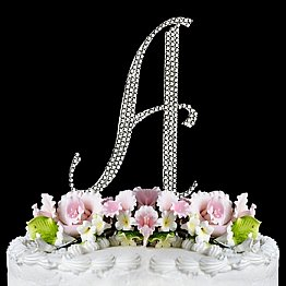 Elegance by Carbonneau Completely-Covered-Monogram Cake Jewelry