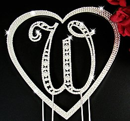 Elegance by Carbonneau Vintage Large Initial and Heart Cake Jewelry