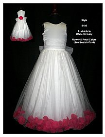 Rosebud Fashions Flowergirl Dress 5102