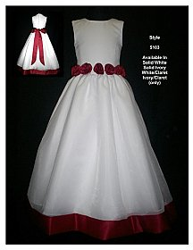 Rosebud Fashions Flowergirl Dress 5103
