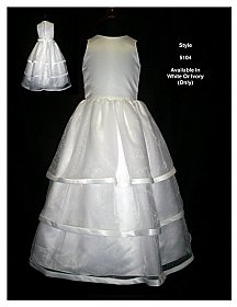 Rosebud Fashions Flowergirl Dress 5104