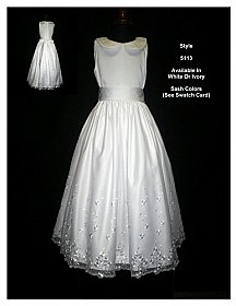 Rosebud Fashions Flowergirl Dress 5113