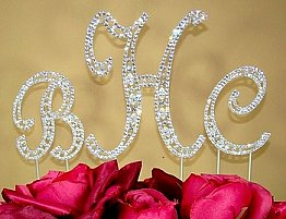 Elegance by Carbonneau Vintage Swarovski Monogram Set Cake Jewelry