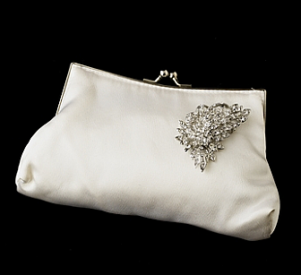 Elegance by Carbonneau Evening Bag 202 with Brooch 205