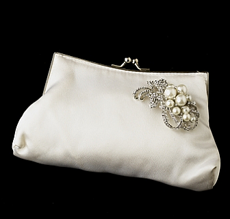 Elegance by Carbonneau Evening Bag 202 with Brooch 211