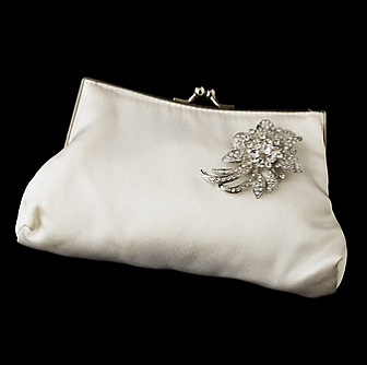 Elegance by Carbonneau Evening Bag 202 with Brooch 16