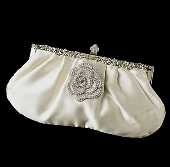 Elegance by Carbonneau Evening Bag 309 with Brooch 113