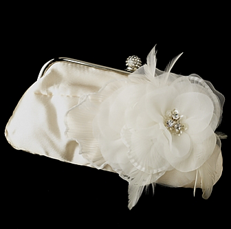 Elegance by Carbonneau Evening Bag 315 with Brooch 475