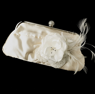 Elegance by Carbonneau Evening Bag 315 with Brooch 8993