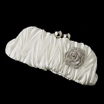 Elegance by Carbonneau Evening Bag 317 with Brooch 113