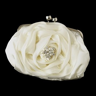 Elegance by Carbonneau Evening Bag 329 with Brooch 118
