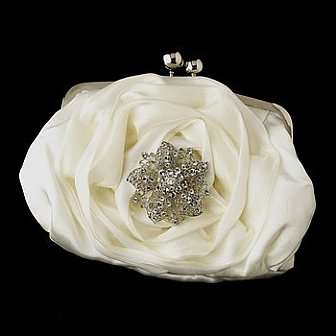 Elegance by Carbonneau Evening Bag 329 with Brooch 156