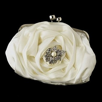 Elegance by Carbonneau Evening Bag 329 with Brooch 208