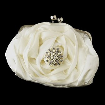 Elegance by Carbonneau Evening Bag 329 with Brooch 30
