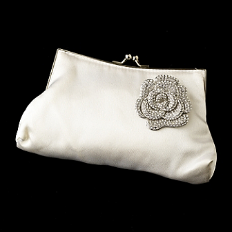 Elegance by Carbonneau Evening Bag 202 with Brooch 113
