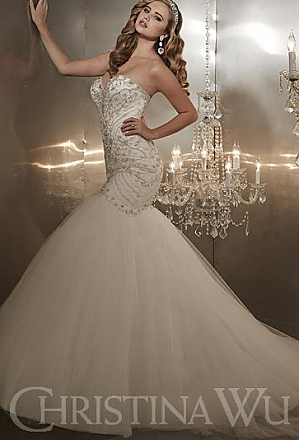 In Stock Christina Wu 15571 Wedding Dress Sz 10